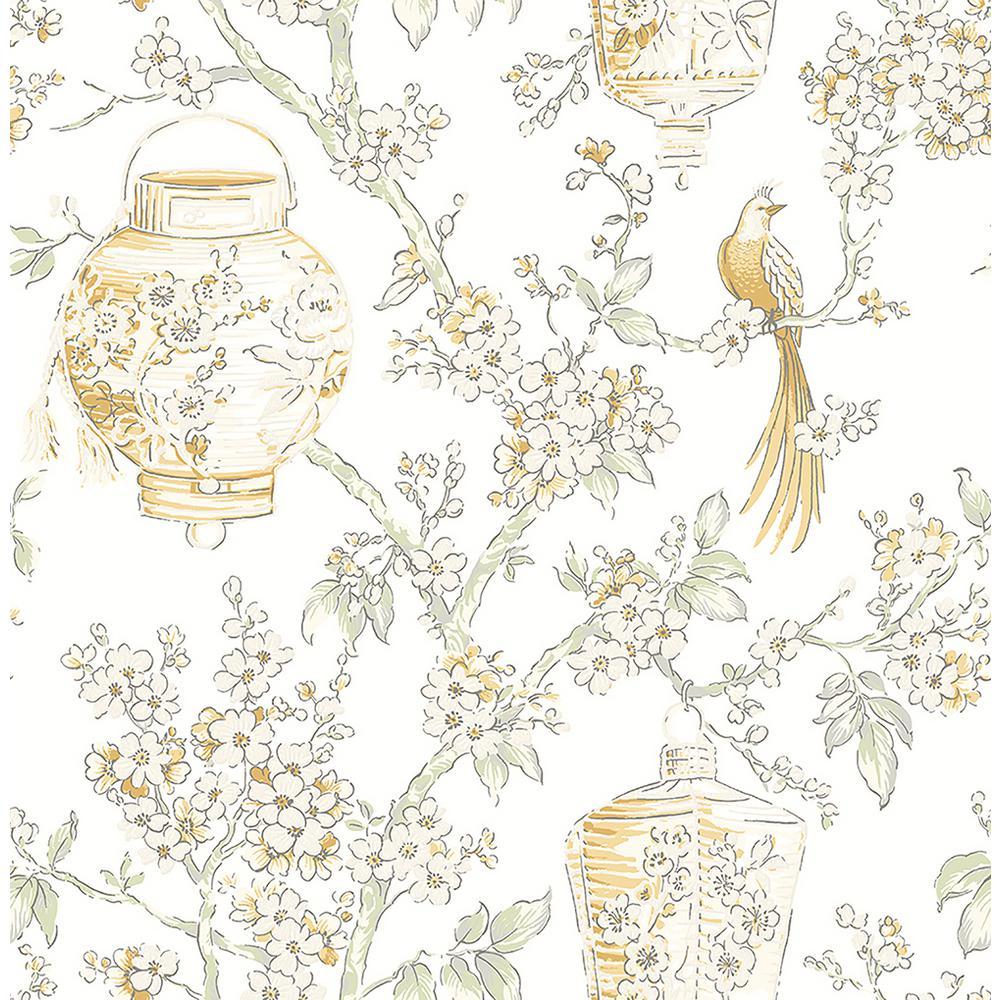 Serenity Honey Lanterns Wallpaper
