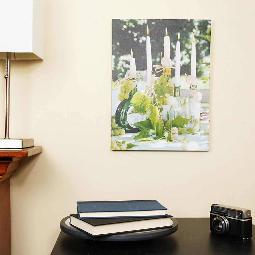 Home Depot Illuminated Canvas : Northlight in led lighted champagne