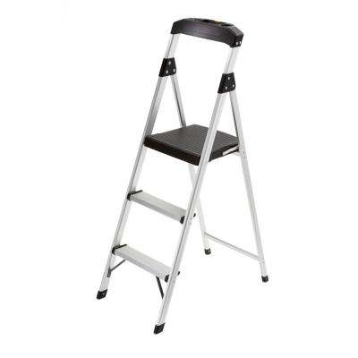 3-Step Aluminum Step Stool Ladder with 225 lb. Type II Duty Rating