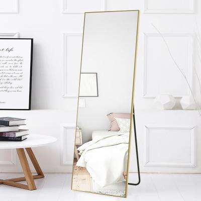 Modern Rectangular Large Floor/Full-Length Mirror With Stand
