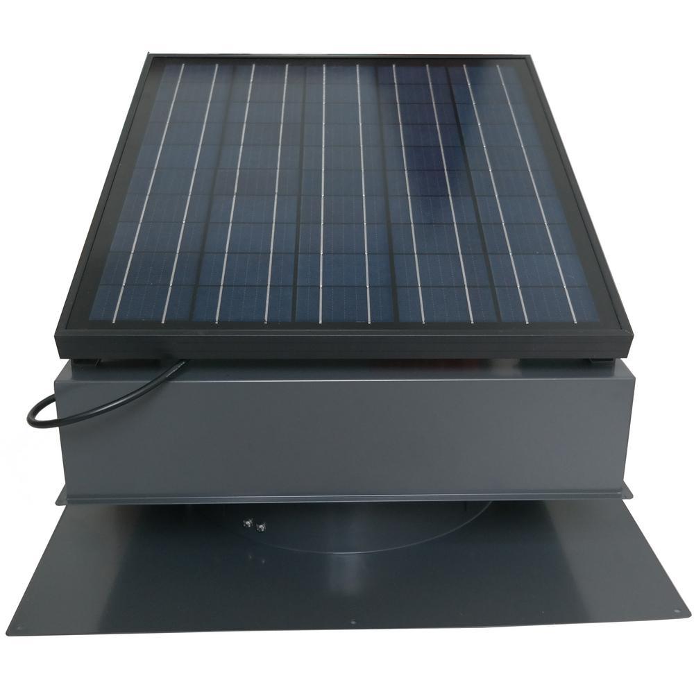 Remington Solar 30 Watt 1550 Cfm Gray Solar Powered Attic