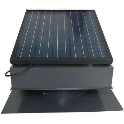 30-Watt 1550 CFM Gray Solar Powered Attic Fan  sc 1 st  Home Depot & Solar Attic Fan - Attic Fans u0026 Vents - The Home Depot