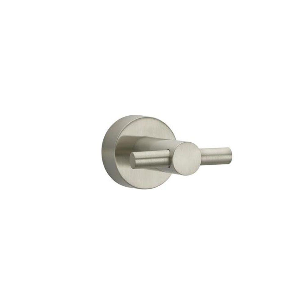 Innburg Double Robe Hook in Brushed Nickel