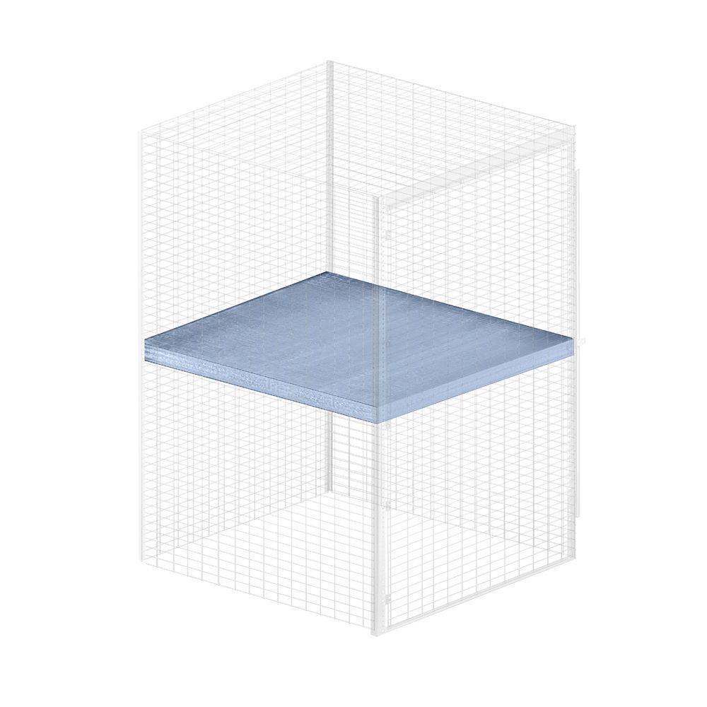 Salsbury Industries Storage Locker Option 48 in. W x 48 in. D x 0.5 in. H Shelf Bulk Storage Locker with Shelf Option in Aluminum