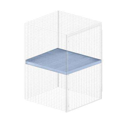 Storage Locker Option 48 in. W x 48 in. D x 0.5 in. H Wire Shelf Bulk Storage Locker with Shelf Option in Aluminum