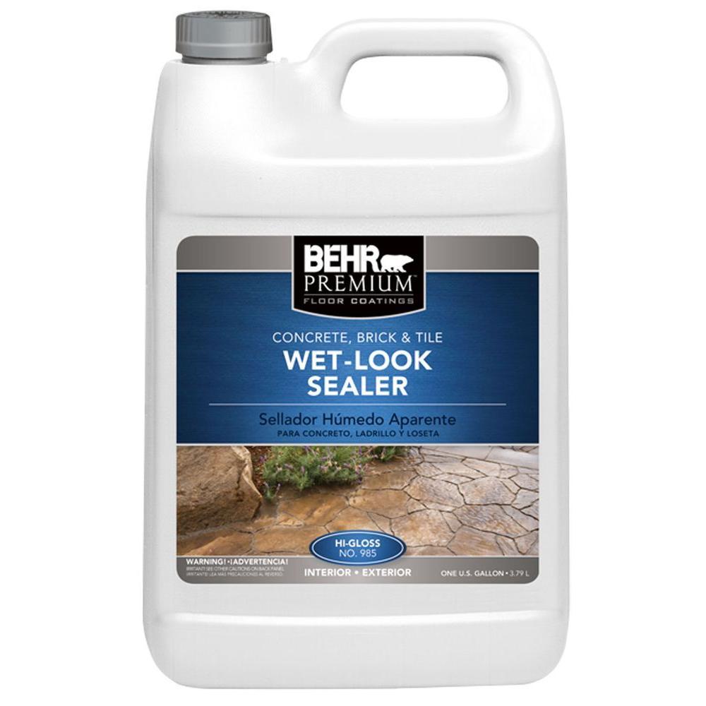 behr premium 1 gal wet look sealer 98501 the home depot