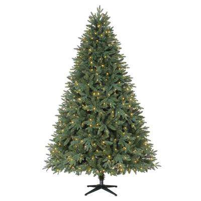 7.5 ft. Pre-Lit LED Harrison Quick Set Artificial Christmas Tree with Color Changing Lights