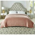 Orville Blush Throw Super Soft 100% Polyester 60 in. x 80 in.
