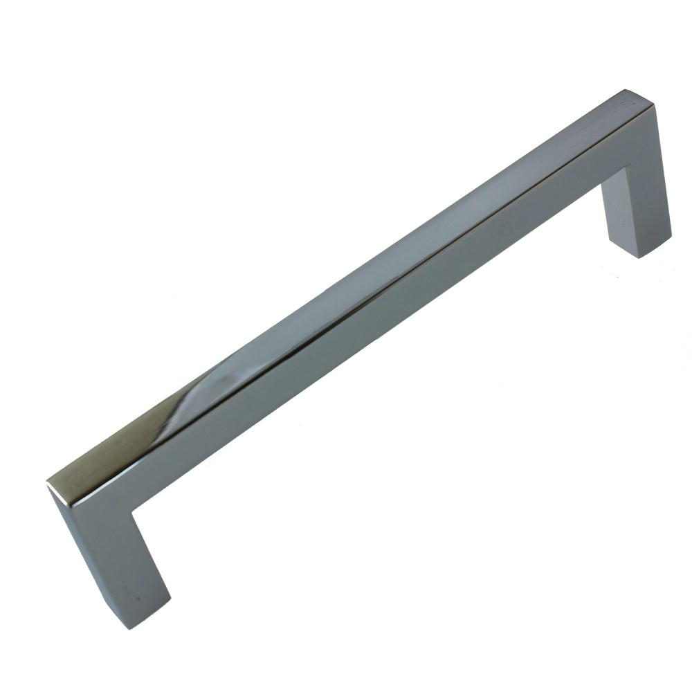 5 10 25 Cabinet Pull Square Drawer Handles Kitchen: GlideRite 5 In. Center-to-Center Polished Chrome Solid