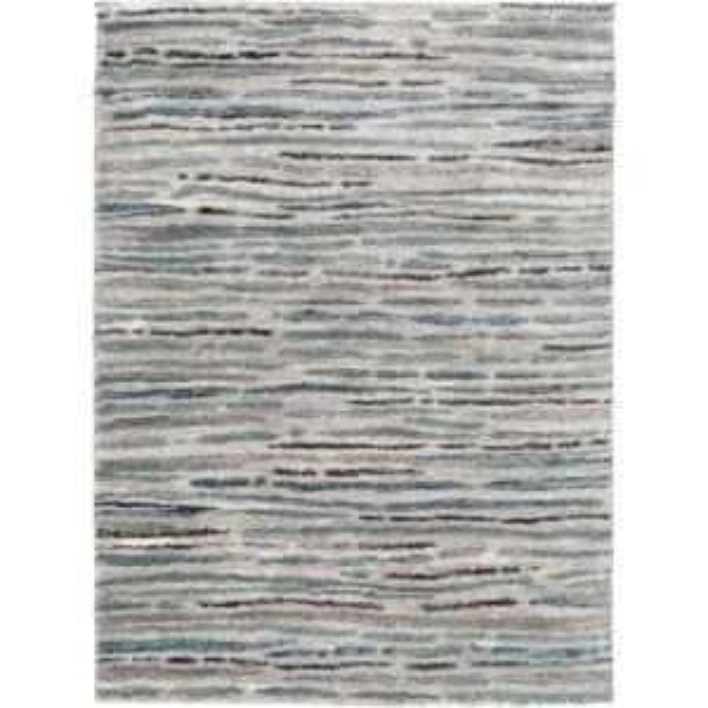 Shoreline Grey/Multi 5 ft. x 7 ft. Striped Area Rug