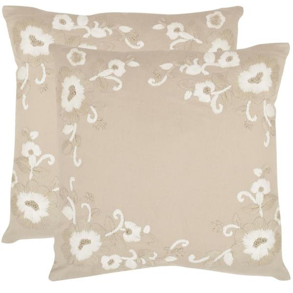 Safavieh Jenny Embroidered Pillow (2-Pack) DEC607A-2222-SET2