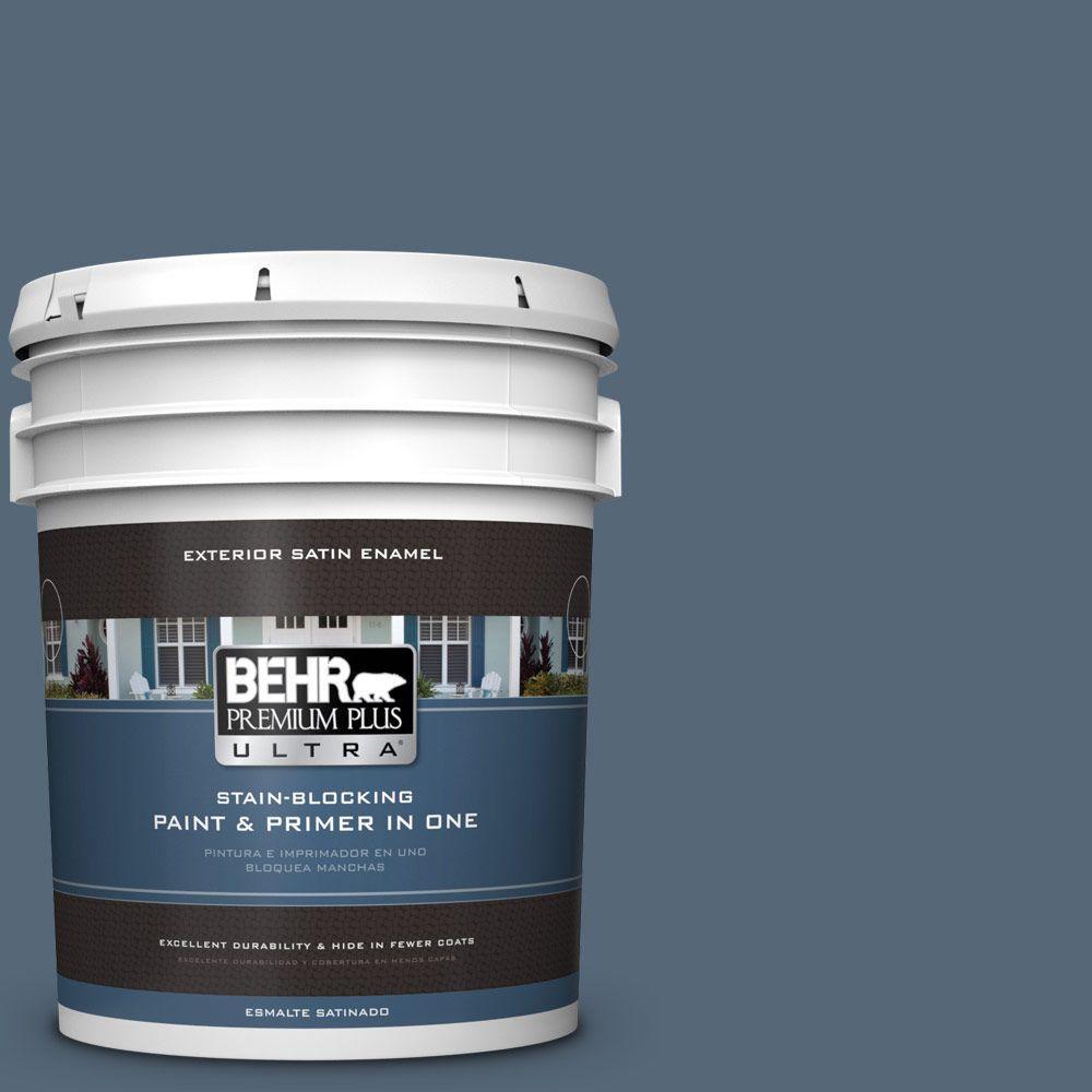 BEHR Premium Plus Ultra 5-gal. #S510-6 Durango Blue Satin Enamel Exterior Paint