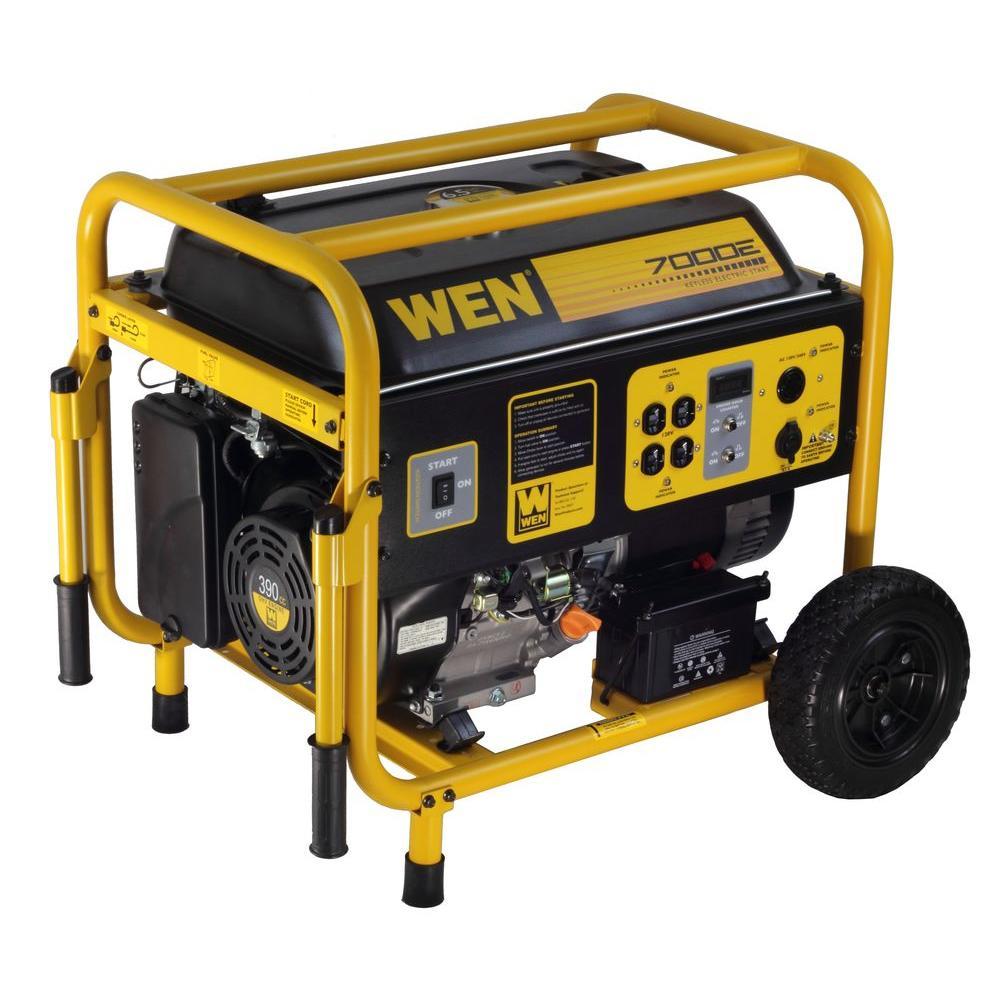 Wen 7,000-Watt Gasoline Powered Generator with Wheel Kit by WEN