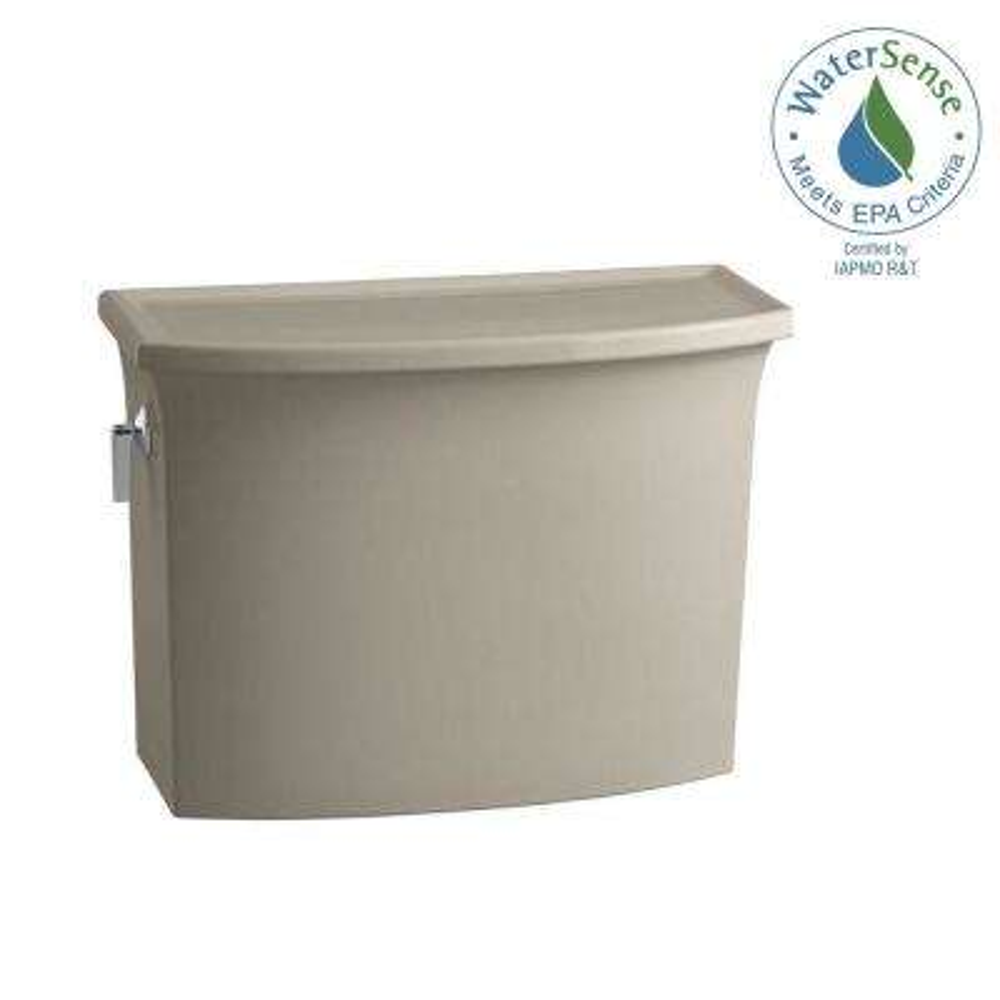 Archer 1.28 GPF Single Flush Toilet Tank Only with AquaPiston Flushing Technology in Sandbar