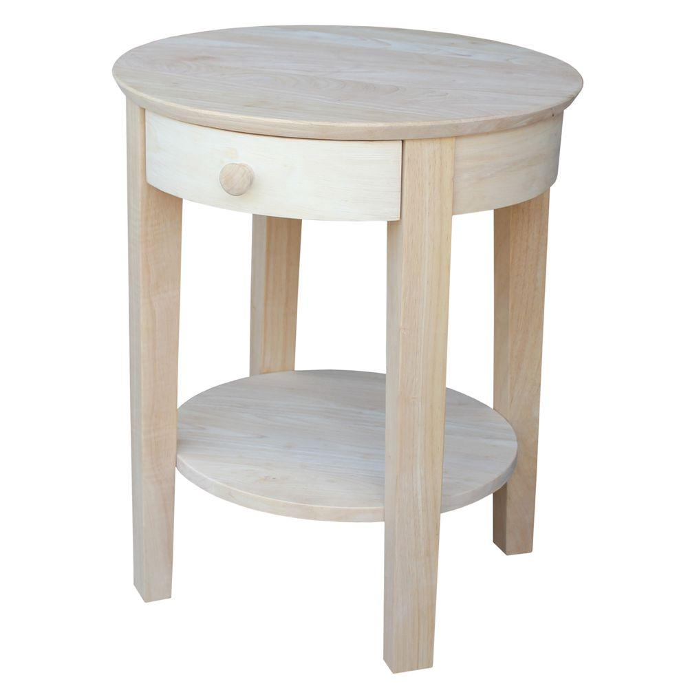 International Concepts Java Unfinished End Table Ot 60e