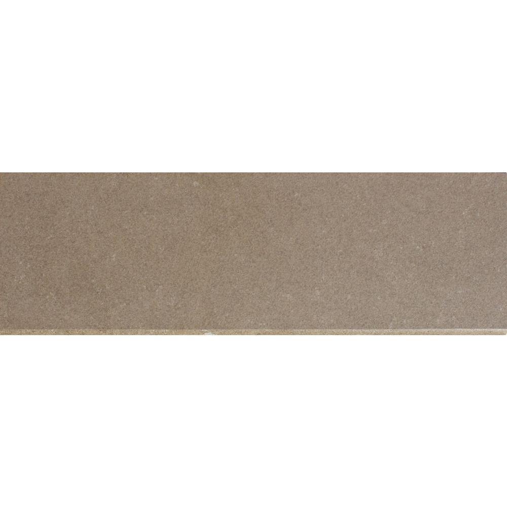 MS International Beton Olive 4 in. x 12 in. Glazed Porcelain Bullnose Wall Tile