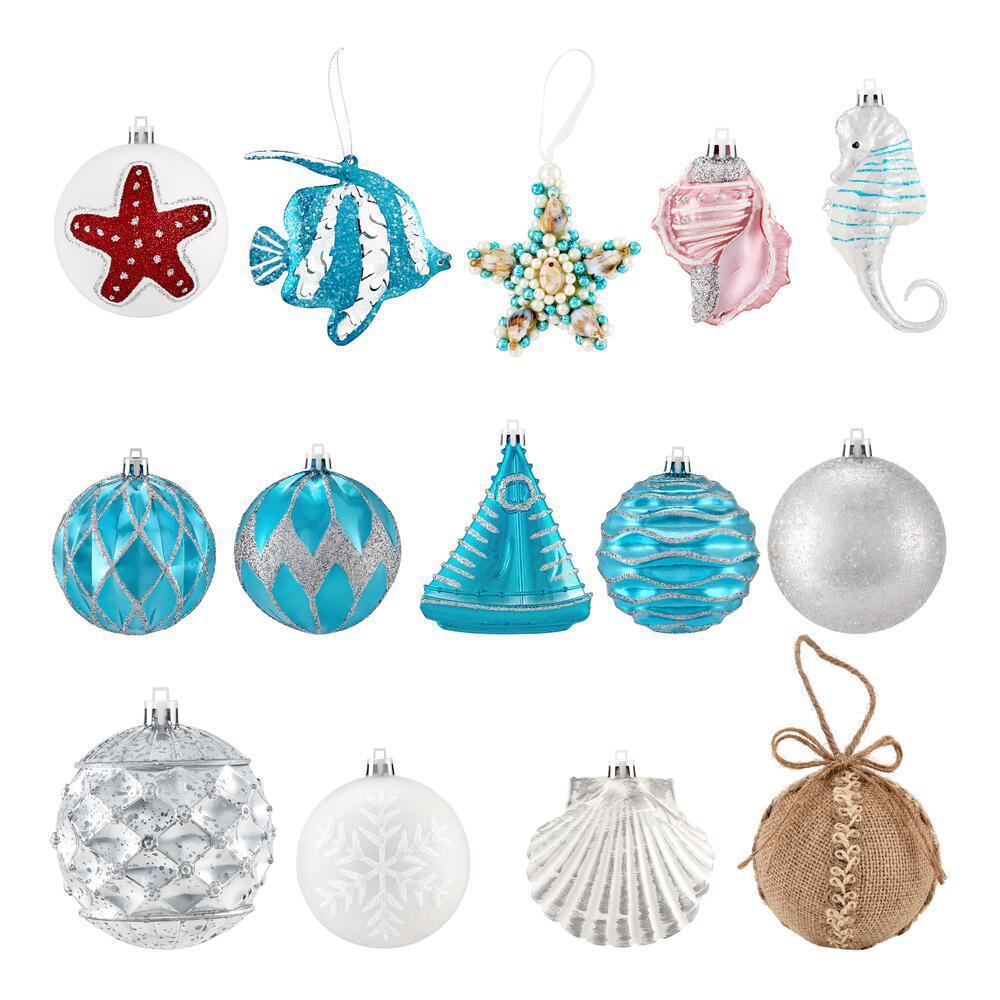 Shatterproof Ornament-Coastal (19-Count)