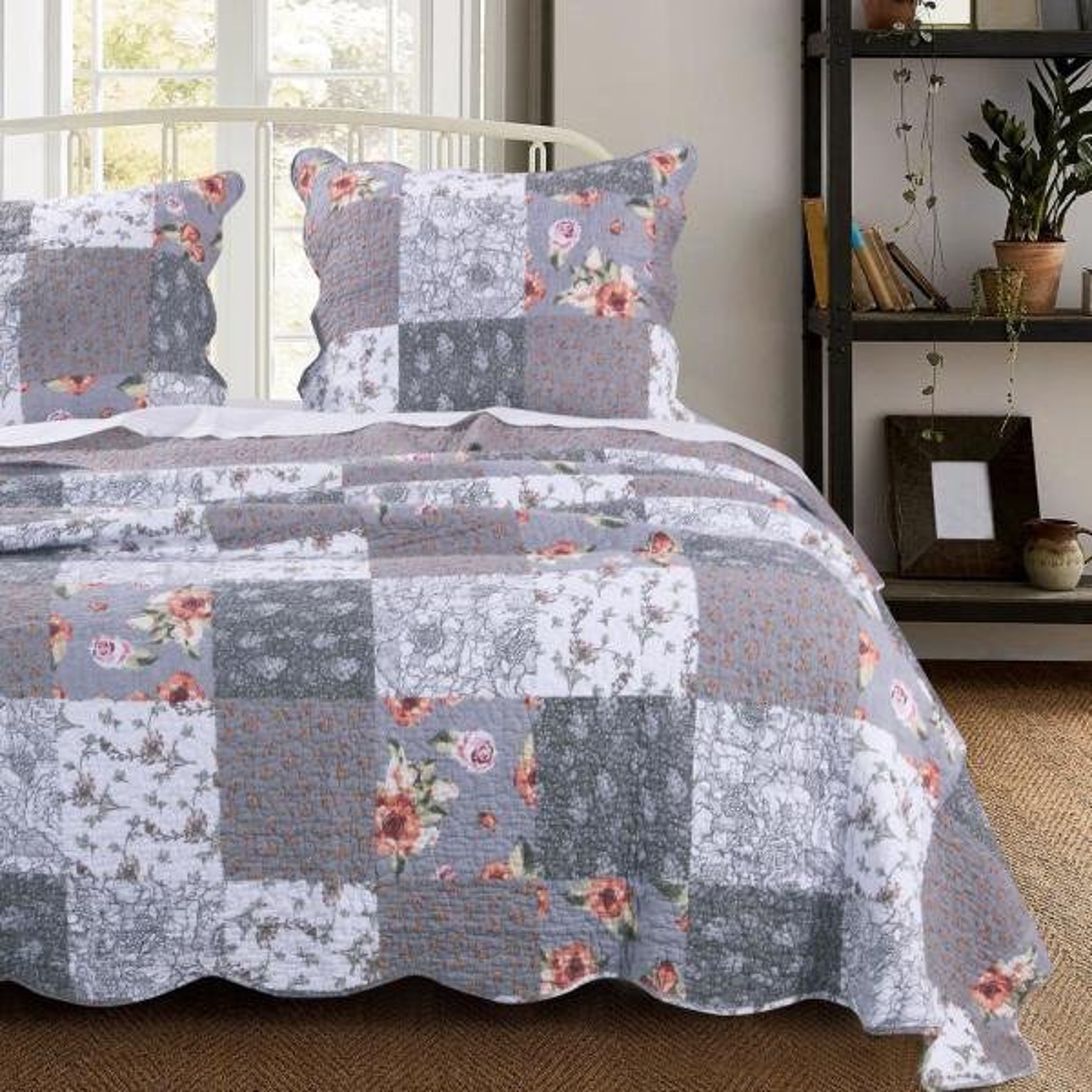 Barefoot Bungalow Giulia 3-Piece Full/Queen Quilt Set GL-1812AMSQ
