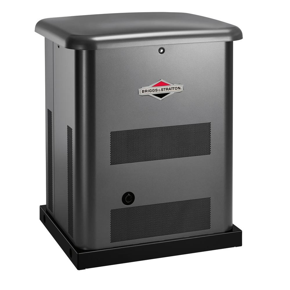 Briggs & Stratton 10,000-Watt Automatic Air Cooled Home Standby Generator System with 100 Amp 16-Circuit Pre-Wired Transfer Switch