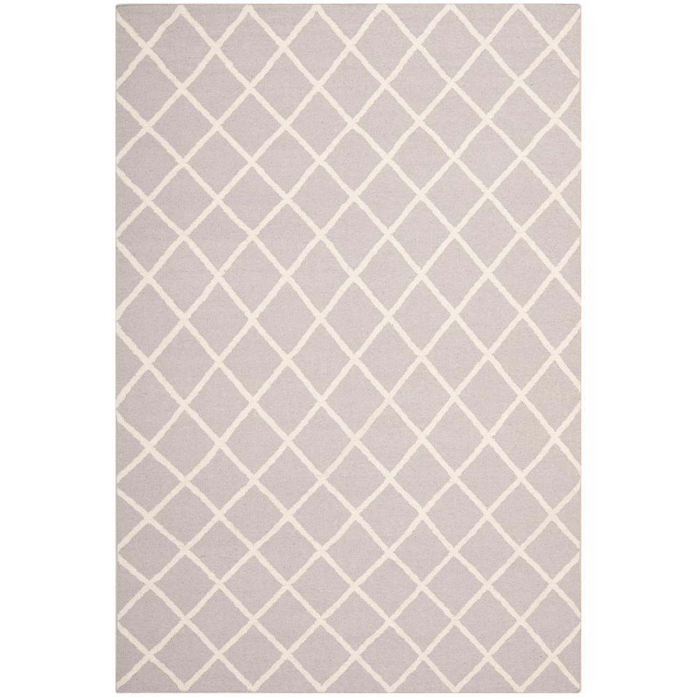 Dhurries Gray/Ivory 5 ft. x 8 ft. Area Rug