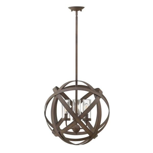 Carson Medium 3-Light Vintage Iron Outdoor Pendant