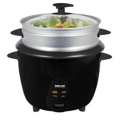 Rice Cooker with Food Steamer Attachment
