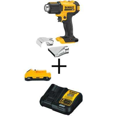 20-Volt MAX Lithium-Ion Cordless Heat Gun (Tool-Only) with 20-Volt MAX 3.0Ah Battery and Charger