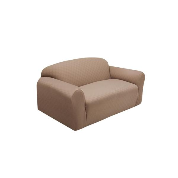 Stretch Sensations Wheat Newport Loveseat Stretch Slipcover