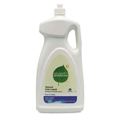 50 oz. Free and Clear Scent Natural Dishwashing Liquid (Case of 6)