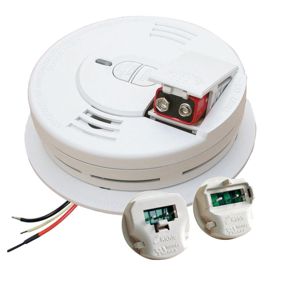 kidde co smoke combination alarms 21009444 64_1000 kidde hardwired 120 volt inter connectable smoke alarm with  at edmiracle.co