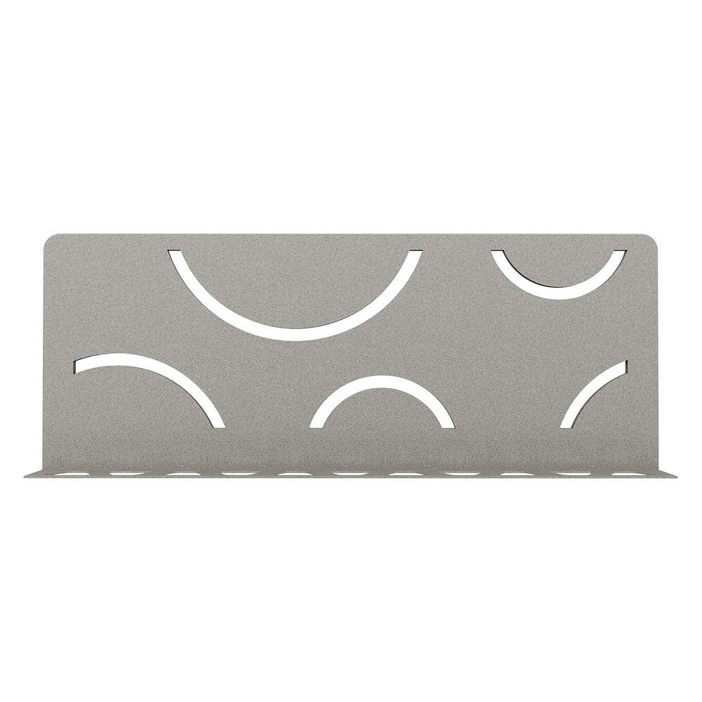 Shelf-W Stone Grey Color-Coated Aluminum Curve Wall Shelf