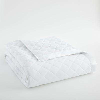 King White Quilted Polyester Blanket