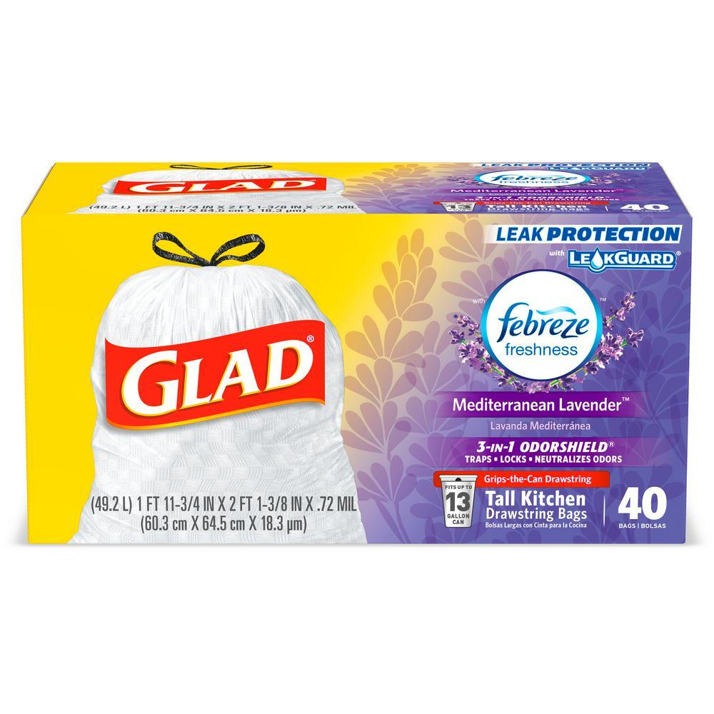 Lavender Odor Shield Trash Bags