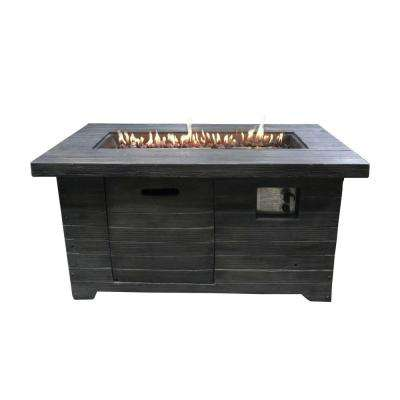 Colombo 45.1 in. x 23.5 in. Rectangular MGO Propane Fire Pit in Brown