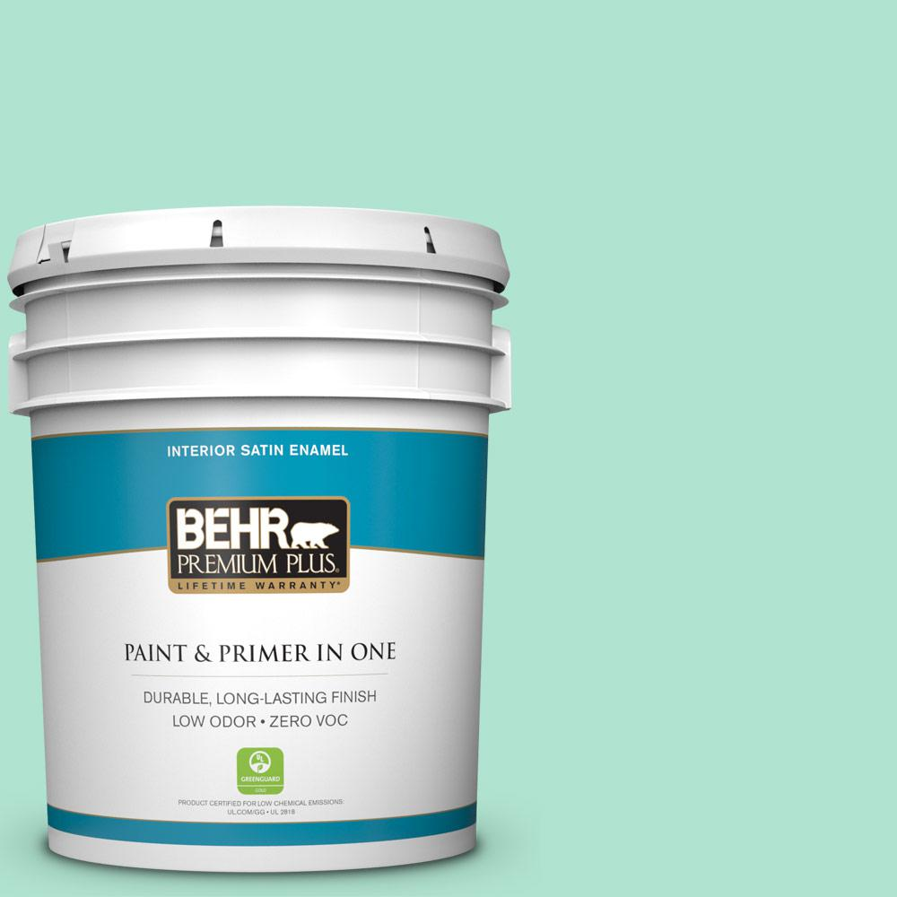 BEHR Premium Plus 5-gal. #P420-2 Crystal Rapids Satin Enamel Interior Paint
