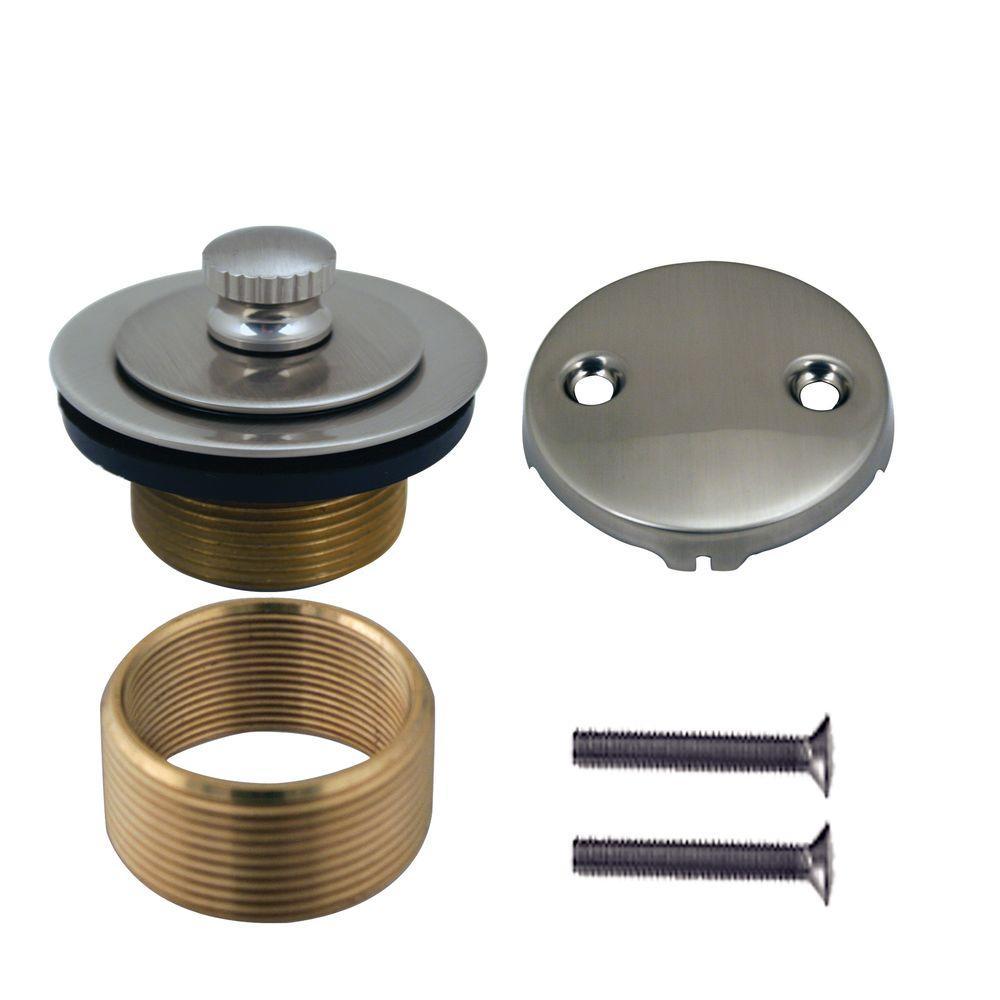 Universal Brass Twist-and-Close Waste Trim Kit in Satin Nickel