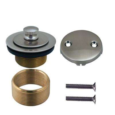 Universal Brass Twist-and-Close Waste Trim Kit in Satin Nickel