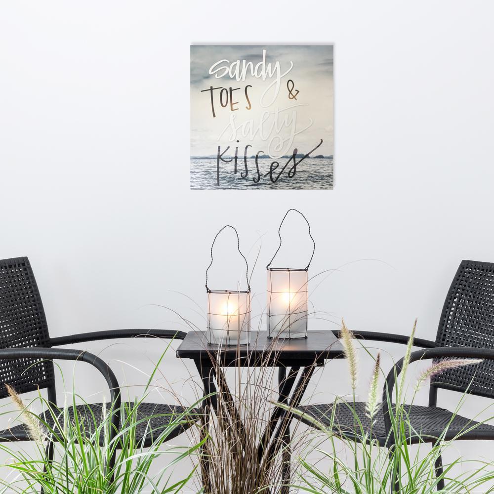 """14 in. x 14 in. """"Salty Kisses"""" By Wynwood Studio Wood Wall Art"""