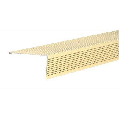 TH026 2.75 in. x 1.5 in. x 72 in. Brite Gold Sill Nosing Weatherstrip