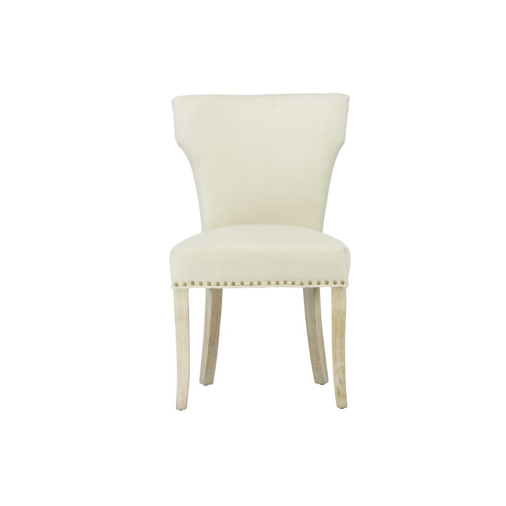 Sleek Beige Linen Dining Chair (Set Of 2)