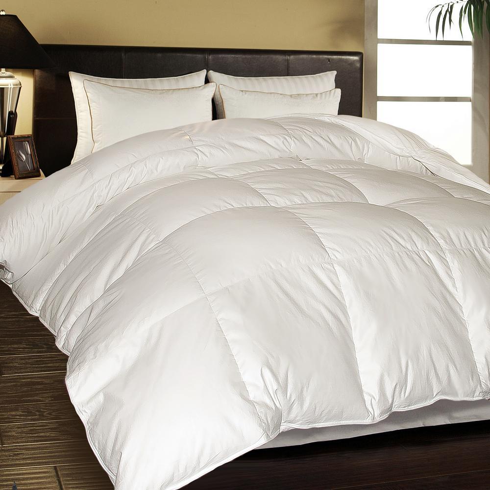 European White Down King Comforter
