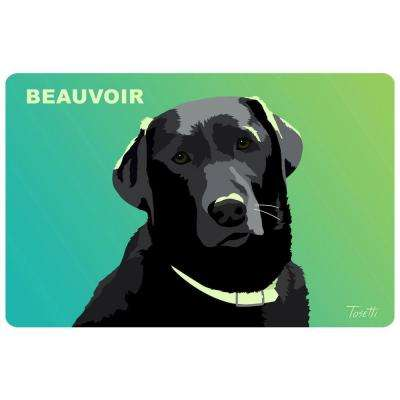 Printed Black Lab 32 17.5 in. x 26.5 in. Mat