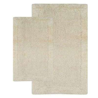 Bella Napoli Ivory 21 in. x 34 in. and 24 in. x 40 in. 2-Piece Bath Rug Set