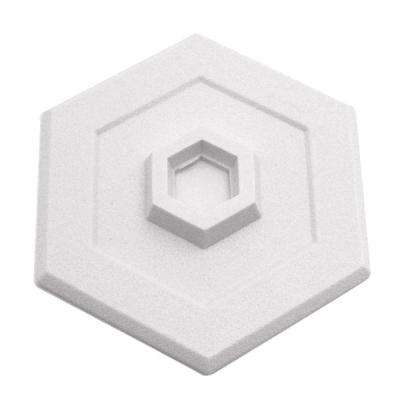5 in. Hexagon Self-Adhesive White Vinyl Wall Protector