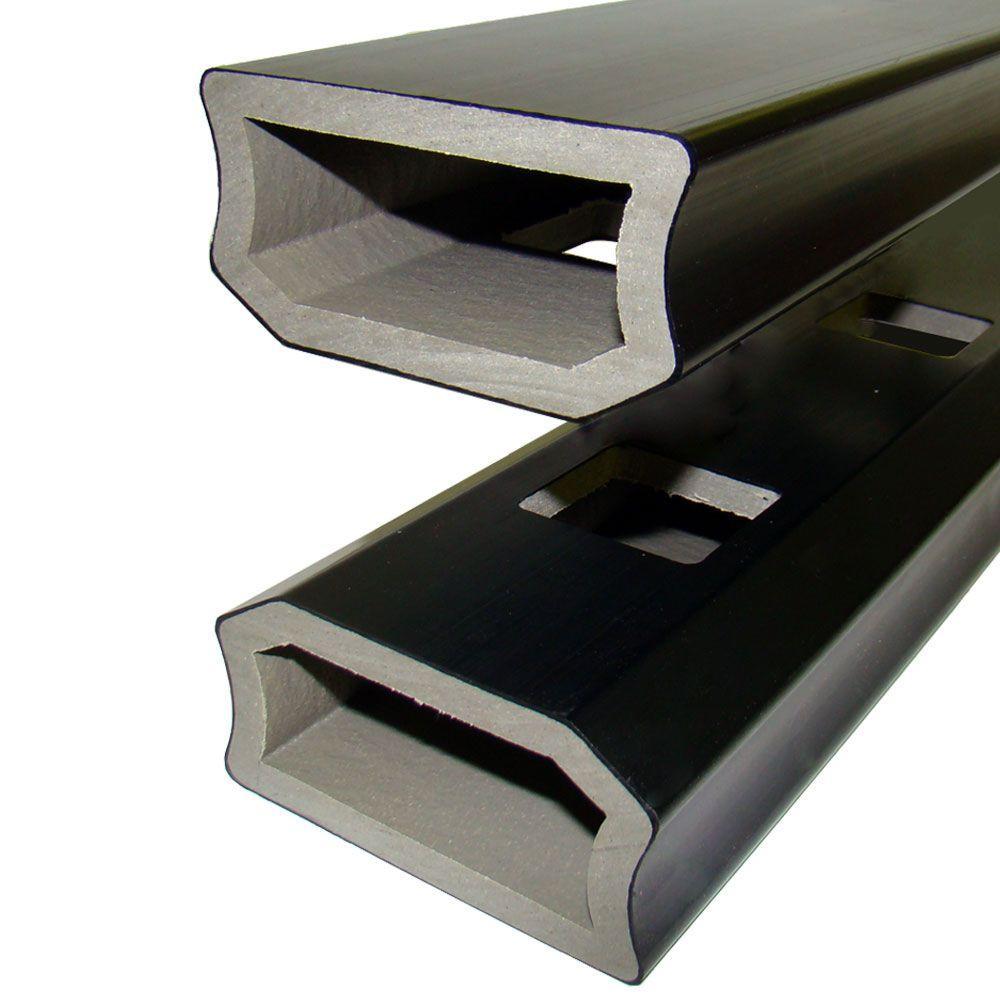 Veranda 6 ft. PVC/Composite Stair Rail in Black (2-Pack)