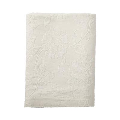 Putnam Matelasse Ivory Cotton Twin Coverlet