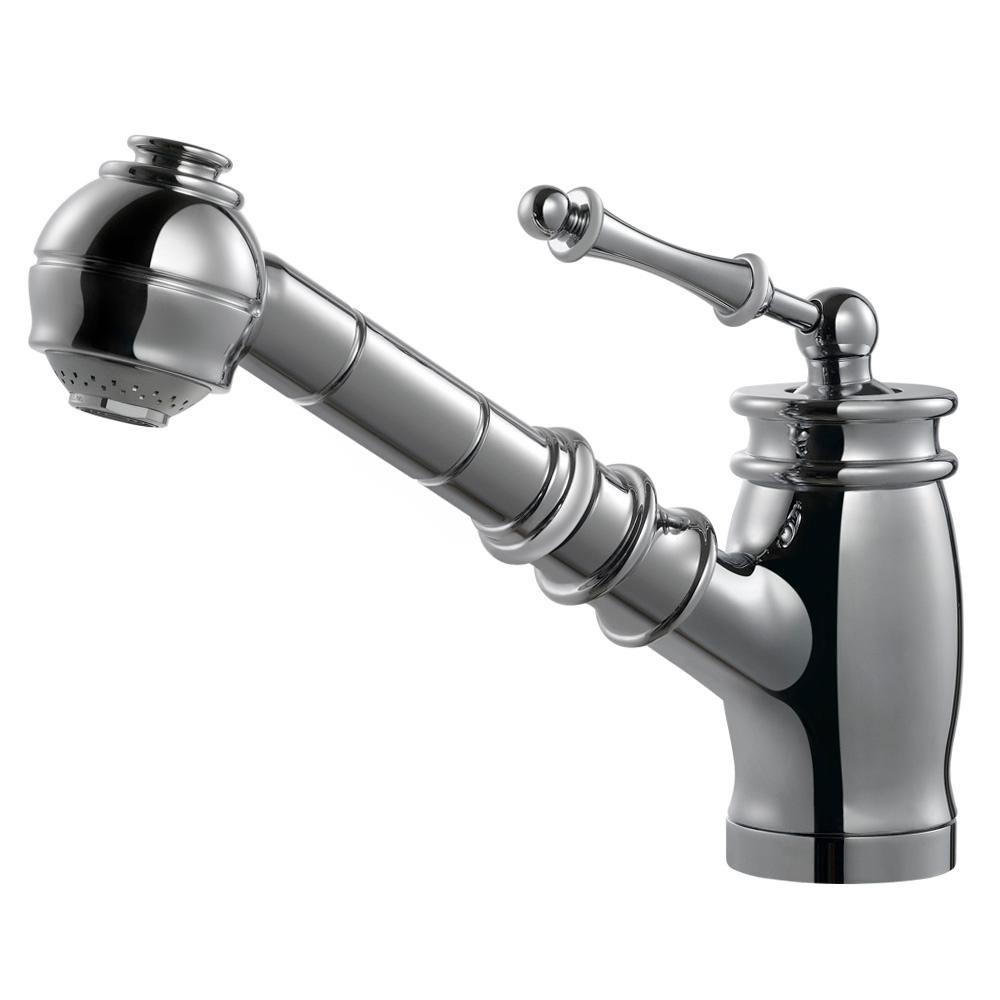 Scepter Single-Handle Pull Out Sprayer Kitchen Faucet with CeraDox Technology in