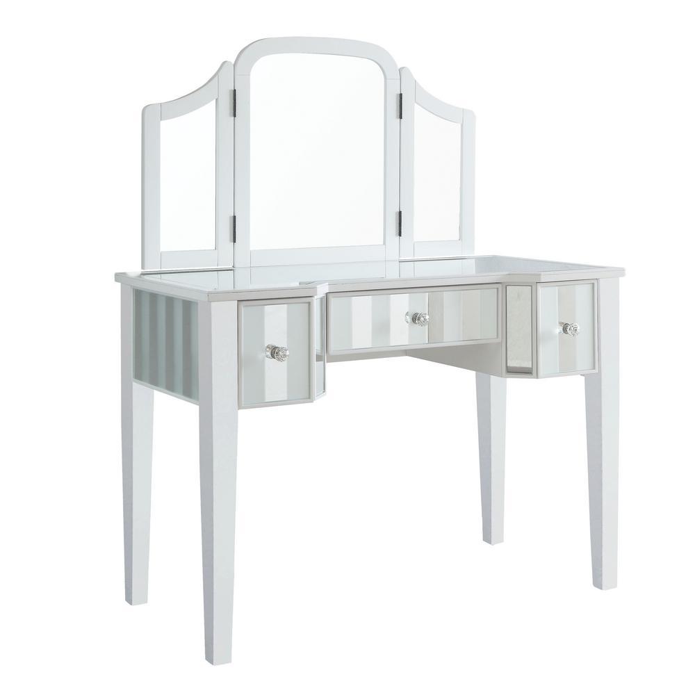 Brooks 3 Piece White Vanity Set