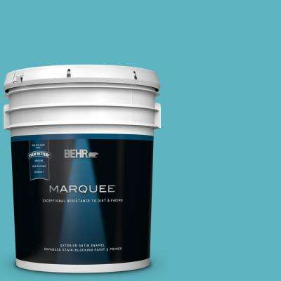 5 gal. #MQ4-51 Adonis Satin Enamel Exterior Paint and Primer in One
