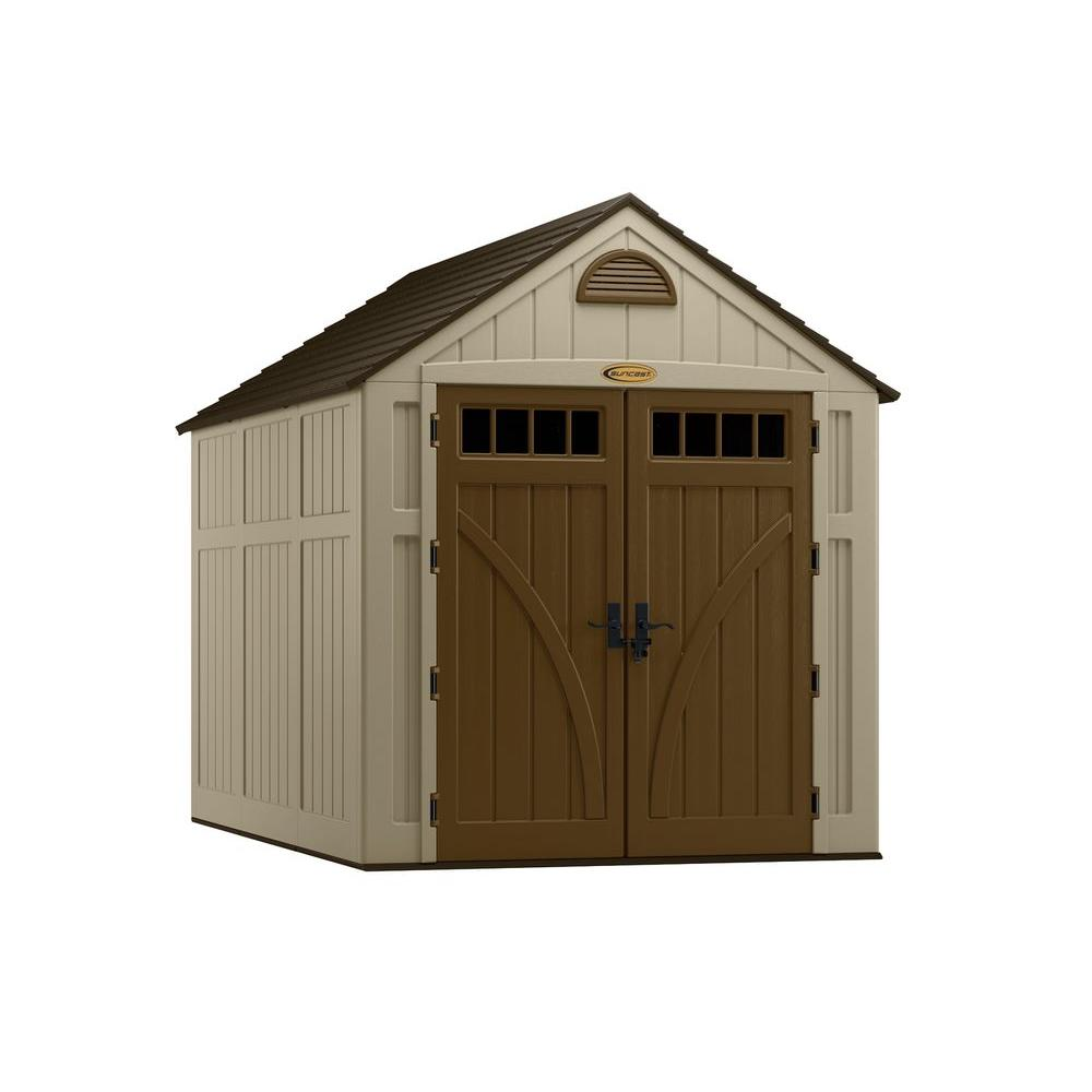 Suncast Brookland 10 ft. 8 in. x 7 ft. 6 in. Resin Storage Shed